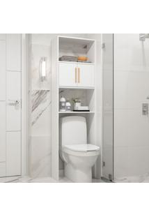 Armário Para Banheiro Com 2 Portas E 3 Prateleiras Bbn 09 - Brv Móveis - Branco