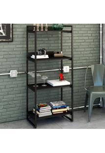 Estante Para Livros 4 Prateleiras Ônix 8391 - Compace