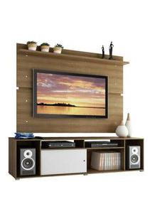 Rack Madesa Cancun E Painel Para Tv Até 65 Polegadas Rustic/Rustic/Branco Branco