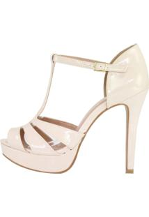 Sandália Salto Alto Week Shoes Meia Pata Gelo Verniz
