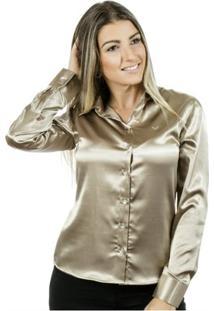 Camisa Pimenta Rosada Maud Le - Feminino-Dourado