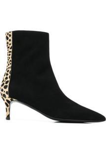 Giuseppe Zanotti Leopard Ankle Boots - Preto
