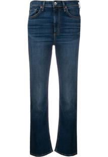 Rag & Bone Calça Jeans Flare Nina Cintura Alta - Azul