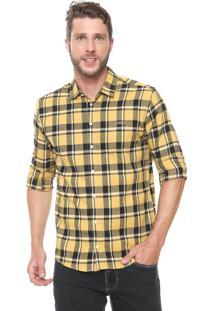 Camisa Colcci Xadrez Slim Amarelo