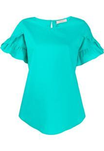 Twin-Set Blusa Com Babados - Verde