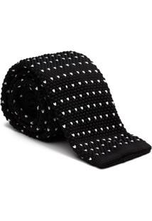 Gravata Key Design - Tricot Point Black - Masculino