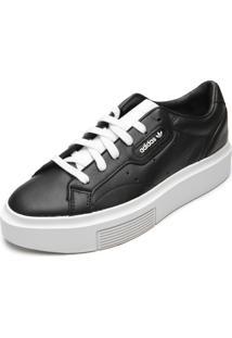 Tênis Couro Adidas Originals Sleek Super W Preto