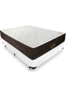Cama Box Casal + Colchão De Molas Ensacadas - Ortobom - Gold Personal 138X188X63Cm Branco