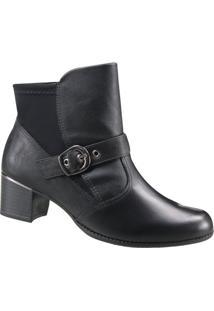Bota Feminina Ankle Boot Comfortflex