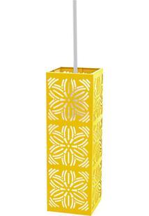 Luminária Pendente Taschibra Renda 101 E27 Amarela Bivolt