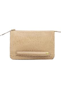 Clutch Sn Couros Firenze Nude