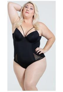 Body Feminino Strappy Renda Plus Size Marisa