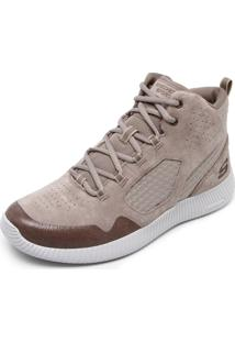 Tênis Couro Skechers Depth Charge Cinza