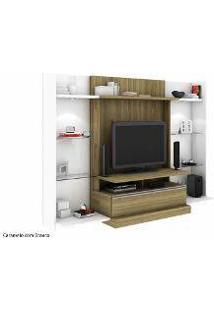 Estante Home Theater Mademarcs Europa Momento Com Kits Laterais Caramelo Com Branco