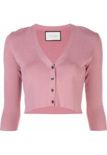 Alexis Cardigan Cropped Petal - Rosa