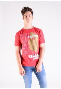 Camiseta Mescla Vermelha Arcade Machine