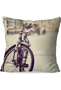 Almofada Avulsa Decorativa Bike Roxa