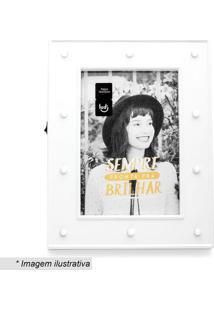 Porta Retrato Led Camarim- Branco- Tamanho Da Foto: Ludi