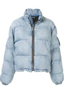 Alexander Wang Denim Look Puffer Jacket - Azul