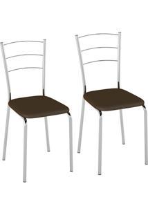 Conjunto Com 2 Cadeiras Olvera Cacau
