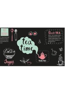 """Tapete Transfer """"Tea Time""""- Rosa & Verde ÁGua- 60X40Tapetes Junior"""