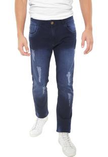 Calça Jeans Grifle Company Reta Indigo Azul