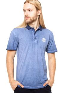 Camisa Polo Manga Curta Element Deep Azul