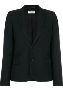 Saint Laurent Blazer Com Abotoamento - Preto