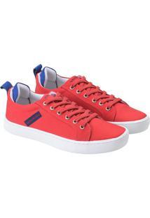 Tenis Lona Cano Baio Skate Logo Caixa - Vermelho - 36