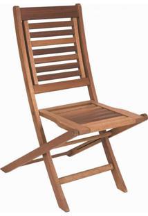 Cadeira Dobrável Para Jardim Em Madeira Maciça Parati Mestra Polisten Nogueira