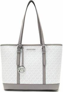 Michael Michael Kors Bolsa Tote Jet Set Travel Pequena - Neutro