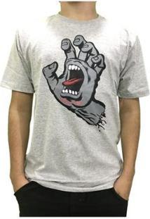 Camiseta Santa Cruz Classic Screaming Hand Masculina - Masculino