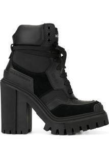 Dolce & Gabbana Bota Com Salto Bloco - Preto