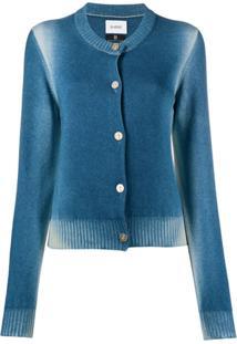 Barrie Cardigan Com Abotoamento - Azul