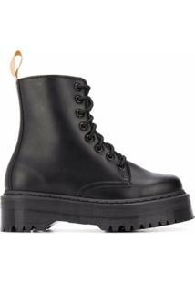 Dr. Martens Ankle Boot Com Solado Chunky - Preto