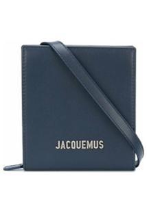 Jacquemus Carteira Le Gadjo Com Alça - Azul