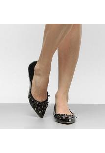 Sapatilha Shoestock Bico Fino Flores Feminina - Feminino