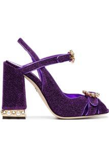 Dolce & Gabbana Sandália 'Bette 105' Com Aplicações - Roxo