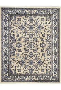 Tapete Oriental- Off White & Azul Marinho- 290X200Cmtapete Sã£O Carlos