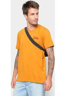 Camiseta Coca-Cola Estampa Logo Masculina - Masculino-Amarelo