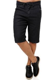 Bermuda Jeans Masculina Preto