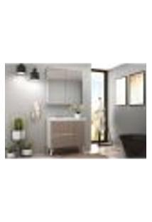 Conjunto Para Banheiro Roma 3 Gv 3 Pt 3 Gv Branco E Gianduia