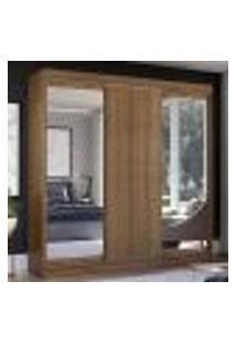 Guarda-Roupa Casal Madesa Istambul 3 Portas De Correr Com Espelhos 3 Gavetas - Rustic