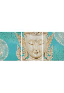 Quadro Decorativo Buda Estampado Azul