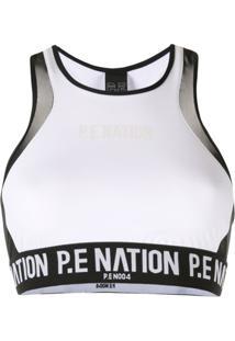 P.E Nation Sutiã Esportivo Centre Forward - Branco