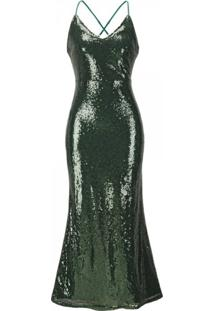 Vestido Shining Mermaid - Verde P