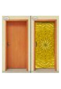 Adesivo Decorativo De Porta - Mandala - 2032Cnpt