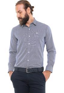 Camisa Iódice Reta Logo Azul/Branca