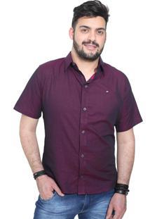 Camisa Slim Victor Deniro Roxo