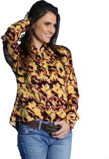 Camisa Chemissima Manchada Amarela